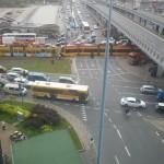Paraliż ruchu tramwajowego w Al. Jerozolimskich po kolizji z udziałem