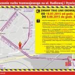 Radiowa i Dywizjonu 303 bez tramwajów do 8 sierpnia