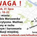 Masa Krytyczna od 18.00 w centrum Warszawy. Utrudnienia w ruchu