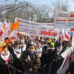 """Ogólnopolska pikieta """"Solidarności"""" pod Sejmem. Utrudnienia na Wiejskiej?"""