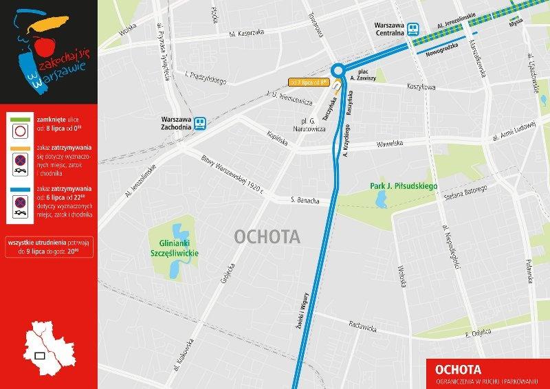 Zmiany w organizacji ruchu na Ochocie. Fot. UM Warszawa