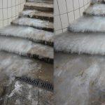 Wola: schody zamieniły się w lodowiec. Uważajcie, by nie złamać nogi!