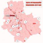 Zobaczcie mapę fotoradarów w Warszawie. Punktów gdzie stoją jest aż 17